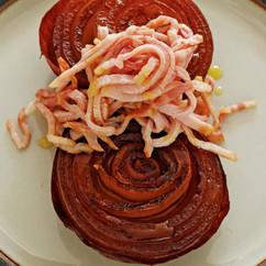 玉ねぎとハムのステーキ