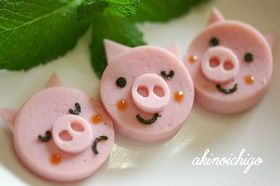 三匹の子豚(キャラ弁おかず)