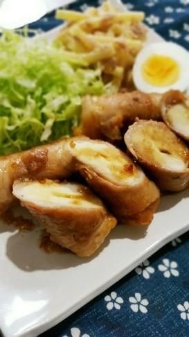 高野豆腐とチーズの肉巻き