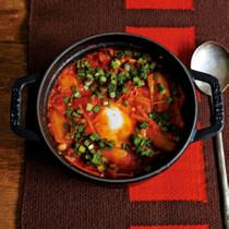 キムチの落とし卵鍋