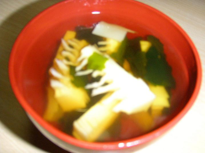 シンプルだけど美味しい♪若竹汁