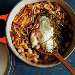 大豆、刻み昆布、桜えびの炊き込みごはん