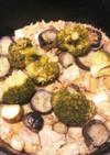 ダッチオーブン☆ブロッコリー鶏肉パエリア
