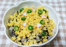 ひじき煮の簡単混ぜご飯♪卵と一緒に