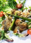 牡蠣と鱈のムニエル バルサミコ酢ソース