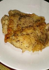 魚焼きグリルでチキンステーキ