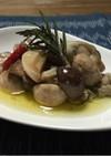 牡蠣とマッシュルームのオイル漬け