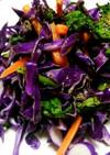 紫キャベツと春菊のサラダ。