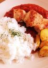 カフェ風ワンプレート♡鶏むねトマトソース