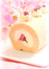 ✿桜のシフォンロール✿