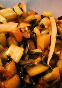 捨てないで!大根葉皮のガリマヨ麺つゆ炒!