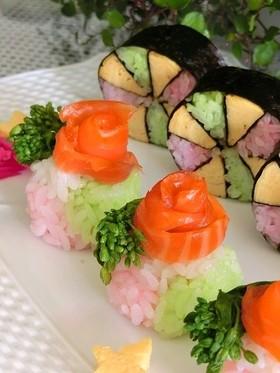 春色の花てまり寿司*ひな祭りやお花見に