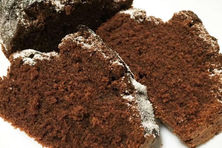 ケーキ ココア パウンド リンゴとナッツのココアパウンドケーキ