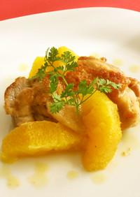 簡単☆鶏肉のネーブルソース