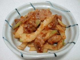 セロリと豚バラ肉の味噌炒め