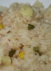 マヨと醤油で洋風炊き込みご飯☆