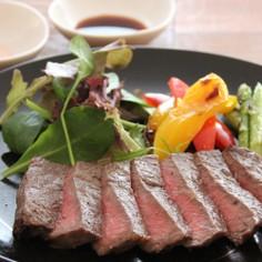 網焼き牛ステーキ 焼き野菜添え*東京ガス