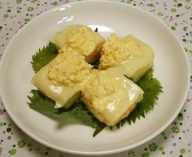 揚げ豆腐のチーズタルタル