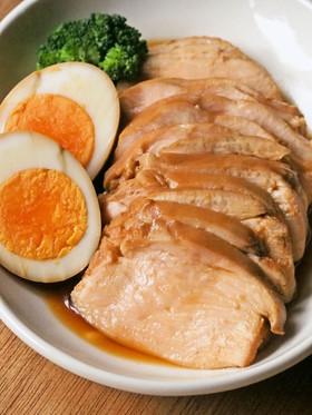 5分で簡単!胸肉やわらか鶏チャーシュー✿