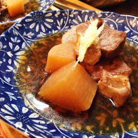 豚角煮大根 柚子胡椒仕立