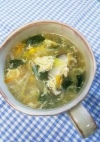 野菜たっぷり中華風かきたまスープ♪