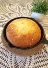 スキレットを使って新感覚の豆乳パンケーキ
