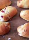 ヨーグルト入り菓子パン生地で3種のパン