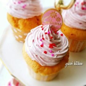 ひな祭りにも✾苺のカップケーキ