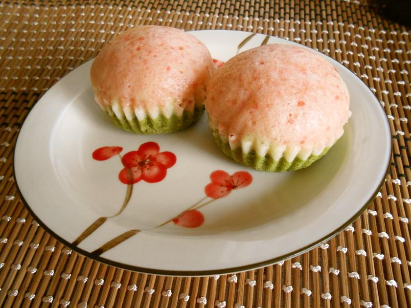 ひな祭り☺3色蒸しケーキ