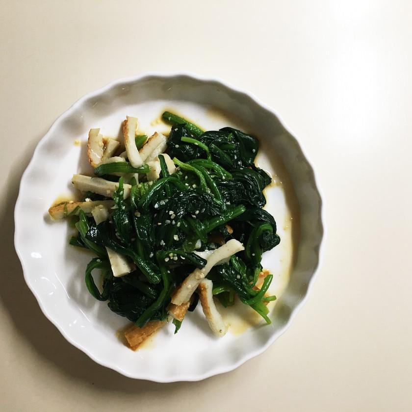 ■常備菜■ほうれん草のヘンプシードナムル