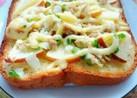 焼きマヨ香る林檎とツナのトースト♪