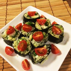 キャベツの海苔巻きサラダ