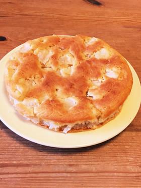 卵と牛乳なしヨーグルトで作るりんごケーキ