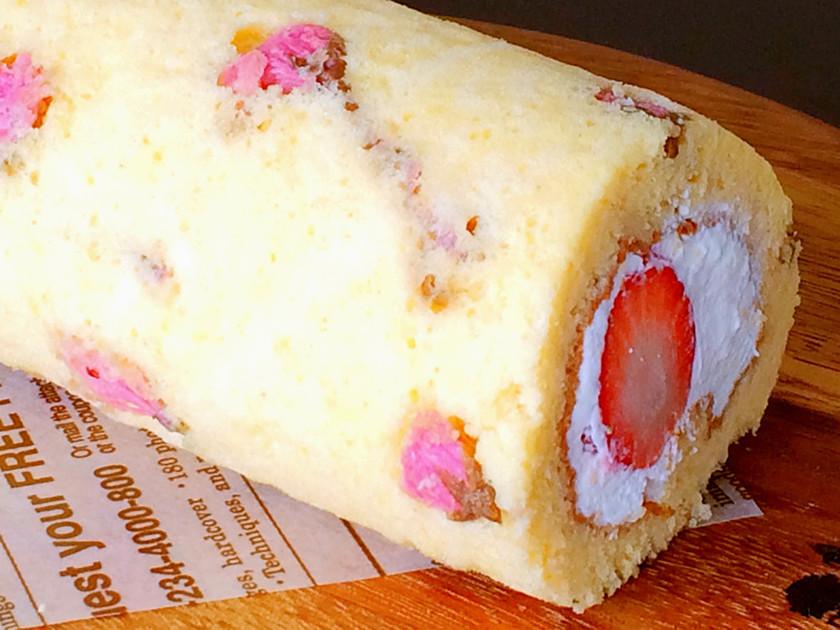 桜のロールケーキ(共立て)