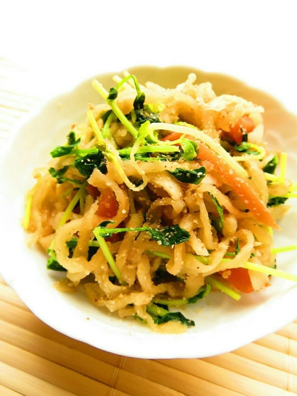 ☺減塩レシピ♪切干大根と豆苗のごま煮☺