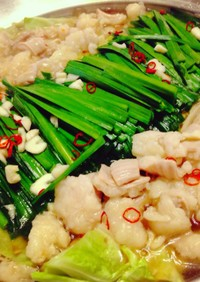 もつ鍋 (醤油味) 王道の味わい