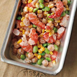 えびと豆のはちみつマヨサラダ
