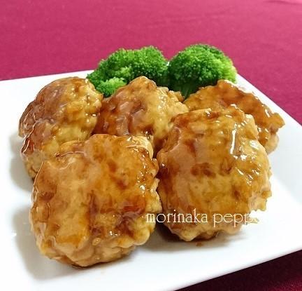 えのき入り!鶏むね肉つくねの中華照り焼き