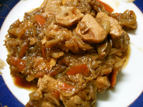 鶏むね肉とキャベツの野菜たっぷり野菜炒め