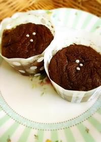 しっとりフォンダンショコラ風チョコケーキ