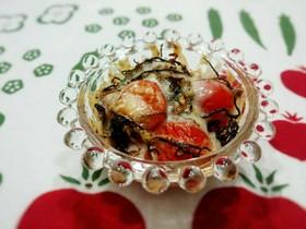 旨味じゅわ♡塩昆布トマトのチーズ焼き*