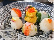 雛祭りに華やか簡単手まり寿司の写真
