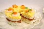 簡単♡ツナそぼろdeひな祭りのケーキ寿司の写真