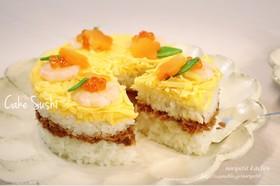 簡単♡ツナそぼろdeひな祭りのケーキ寿司