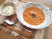 豆乳と野菜の食べるスープの写真