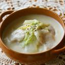 簡単♪豚肉と白菜のトロトロ♡豆乳スープ