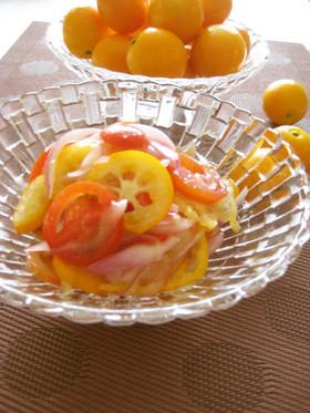 簡単☆金柑とトマトの爽やかマリネ風サラダ