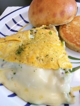 【低糖質なおかず】ツナとチーズのオムレツ