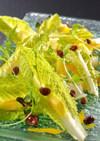 ロメインレタスと水菜のトロピカルサラダ