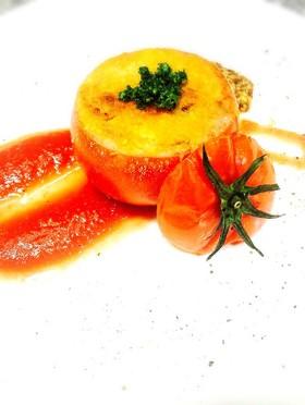 ミートソース詰めトマトグリル